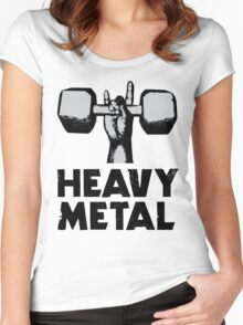 Heavy Metal Lifting Women's Fitted Scoop T-Shirt