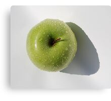 Washed Green Apple Canvas Print