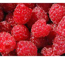 Washed Raspberries Photographic Print