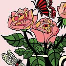 Roses and Bugs by genevievem