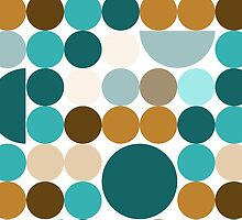 Blue-brown circles pattern by HelgaScand