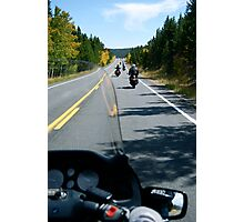 Motorcycle Run Photographic Print