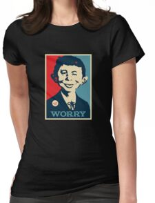 WHAT ME WORRY Womens Fitted T-Shirt