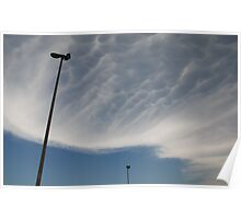 Mammatus Clouds and Street Lamps  Poster
