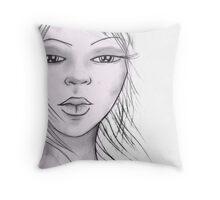 quick sketch Throw Pillow