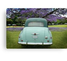 Classic Two Tone Green Canvas Print