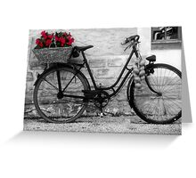 French Wheels Greeting Card