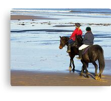 Follow Me  - Saltburn Beach Canvas Print