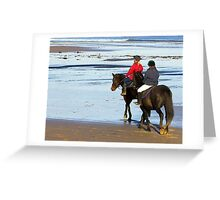 Follow Me  - Saltburn Beach Greeting Card