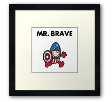 Captain America - Mr Brave Framed Print