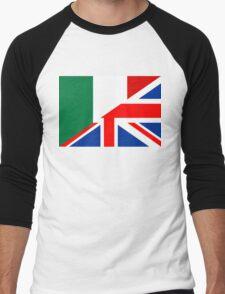 uk italy flag Men's Baseball ¾ T-Shirt