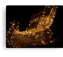 Golden Sleigh Canvas Print