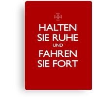KEEP CALM IN GERMAN Canvas Print
