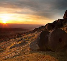 Stanage Edge Sunset by Mick Gosling
