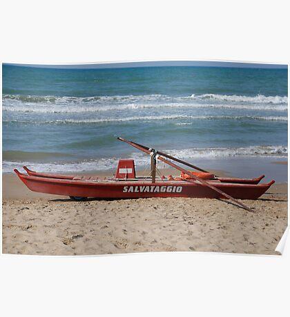 Italian Life Boat  Poster