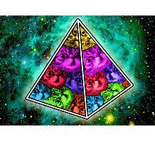 Space Cat Pyramid Photographic Print