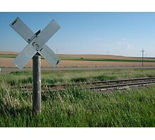 Nebraska Level Crossing   Photographic Print
