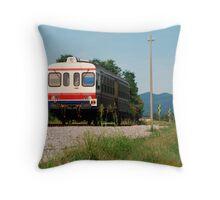 Rural Italian Train  Throw Pillow