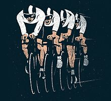 Cycling Team Pursuit by pencilbeak