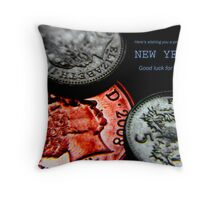 Happy New Year ... 'CREDIT CRUNCH' Throw Pillow