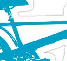 Blue Chopper Silhouette Sticker