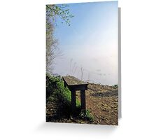 The Fog Is Lifting Greeting Card