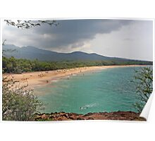 Big Makena Beach, Maui, Hawaii Poster