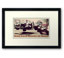 Grand Prix de Formule 1 de Monaco Framed Print