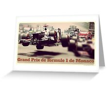 Grand Prix de Formule 1 de Monaco Greeting Card