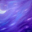 Night Sky II: Crescent Moon by Michelle Ottey