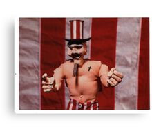Uncle Sam Jr. gallery invite, 1999 Canvas Print