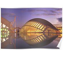 Valencia L'Hemisferic - Ciudad artes y ciencia Poster