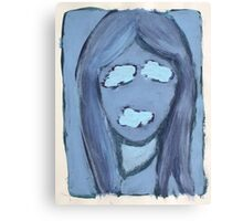 Blue Silenced Girl Canvas Print