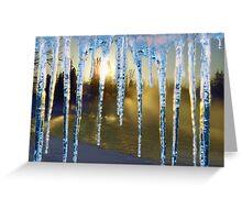 WinterWater Sunset Greeting Card
