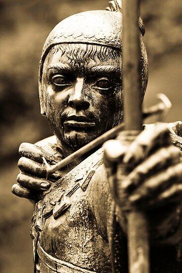 Robin Hoods Statue by geoff curtis