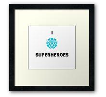 I ARC SUPERHEROES Framed Print