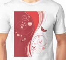 Red swirl ornament Unisex T-Shirt