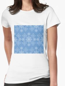 Snowflakes ornament Womens Fitted T-Shirt