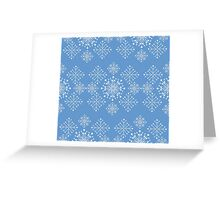 Snowflakes ornament Greeting Card