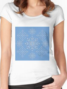 Snowflakes ornament 2 Women's Fitted Scoop T-Shirt