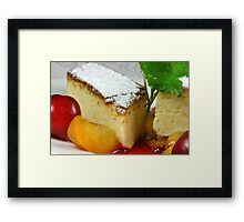 Cheese Cake Framed Print