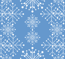 Snowflakes ornament 3 Sticker