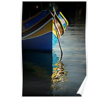 Fishing boat reflections Poster