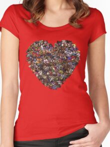 Monsters in our hearts! Women's Fitted Scoop T-Shirt