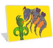 When Whimsical Bug and Green Creature Meet Laptop Skin