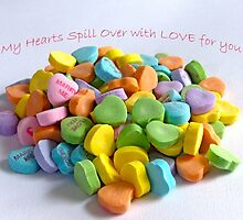 My Hearts Spill Over with LOVE for You! Card by Susan S. Kline