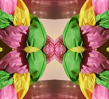 Pastel Puffed Paper Flower by BethofArt