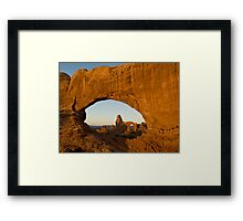Turret through North Window Framed Print