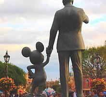Mickey & Walt by disneylandaily