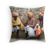 SADHUS - RAJASTHAN Throw Pillow